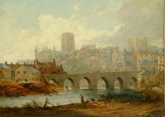 James Wilson Carmichael (1800-1868) 'Durham' 25 x 33.5cm.