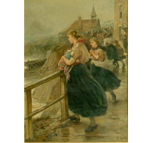 Robert Jobling (1841-1923) 'Wives and Mothers' 65 x 48cm.