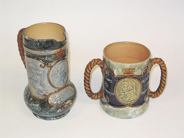 A large early 19th Century Newcastle pearlware jug