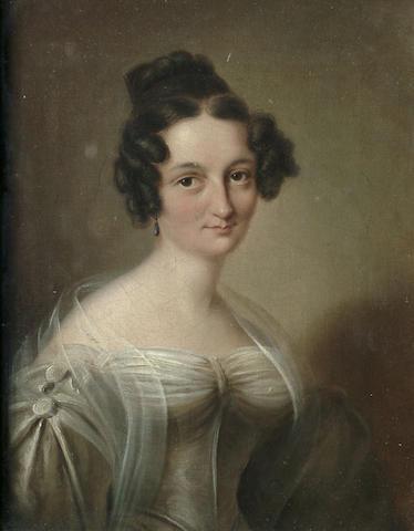 German School, circa 1818 Portrait bust length, believed to be depict Adelheid Muller, 21.2 x 17 cm (8 3/8 x 6 5/8 in)