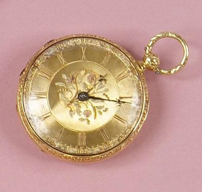 H. Mendelson, King Street, Manchester: A mid-19th Century 18ct gold open face pocket watch