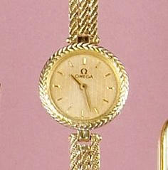 Omega: An 18ct gold lady's wristwatch,