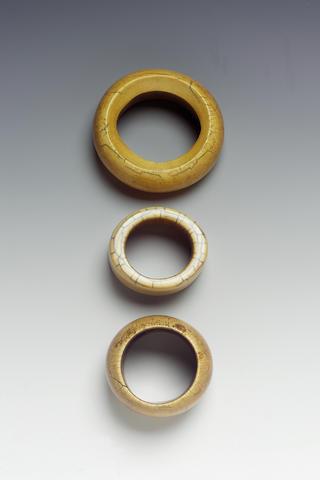 Three African ivory bracelets 9cm. diameter 3