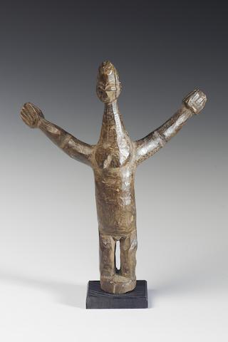 A Lobi wood Bateba figure 21cm., mounted