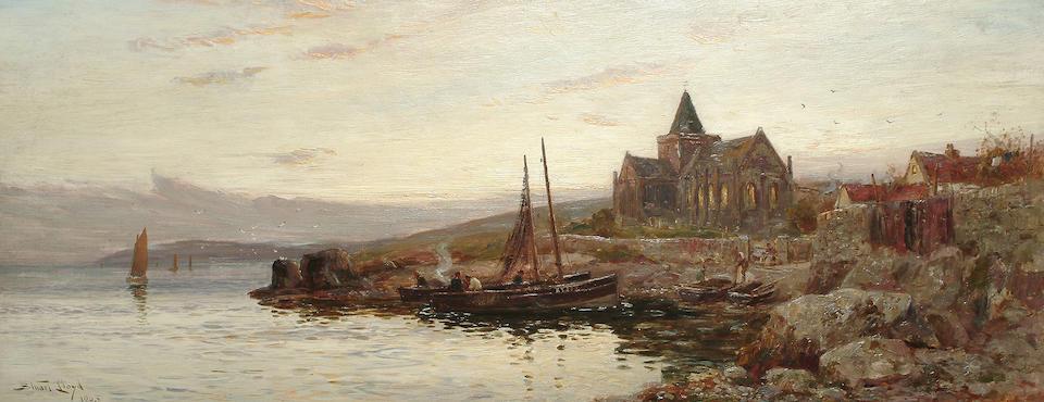 W. Stuart Lloyd (British, fl.1875-1929) St. Monans, 41 x 102 cm (16 1/8 x 40 1/8 in)