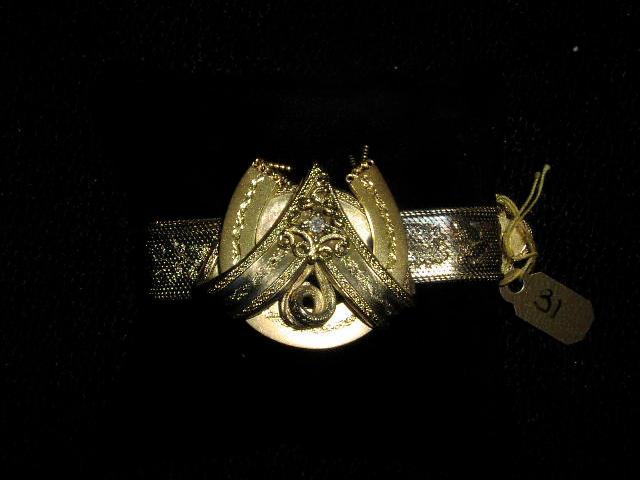 A mid Victorian gold bracelet
