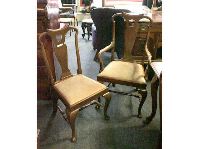A set of eight Queen Anne style mahogany Dining Chairs,