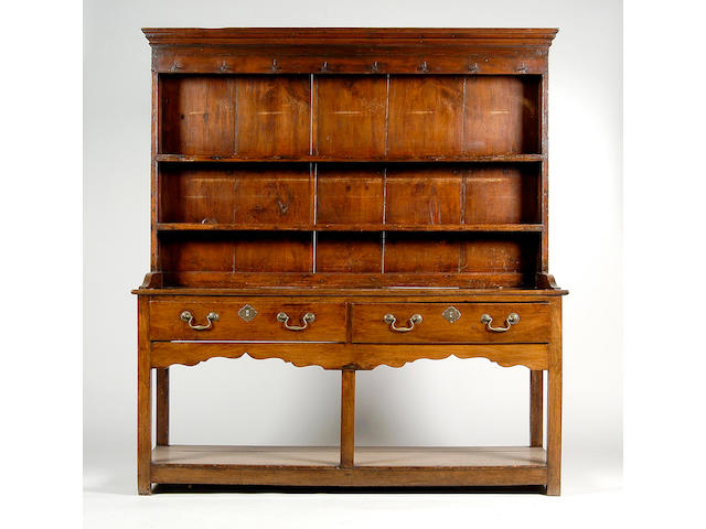 An early 19th Century provincial chestnut high dresser,