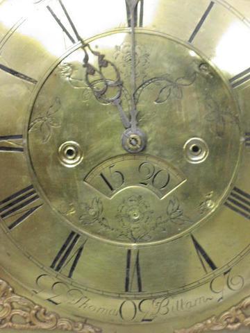 Thomas Billam, A George III oak longcase clock,