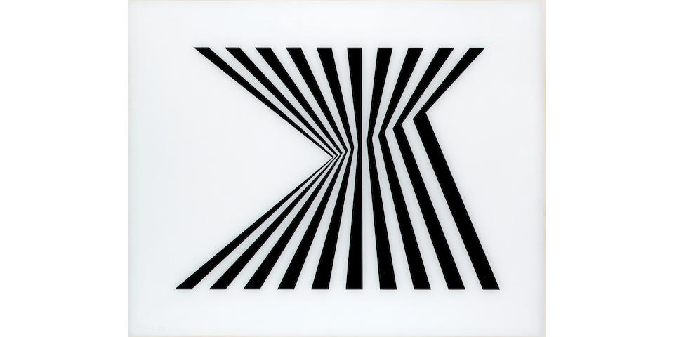 Bridget Riley Untitled (Fragment 1) Screenprint on plexiglass, 1965, signed, dated and numbered 32/7