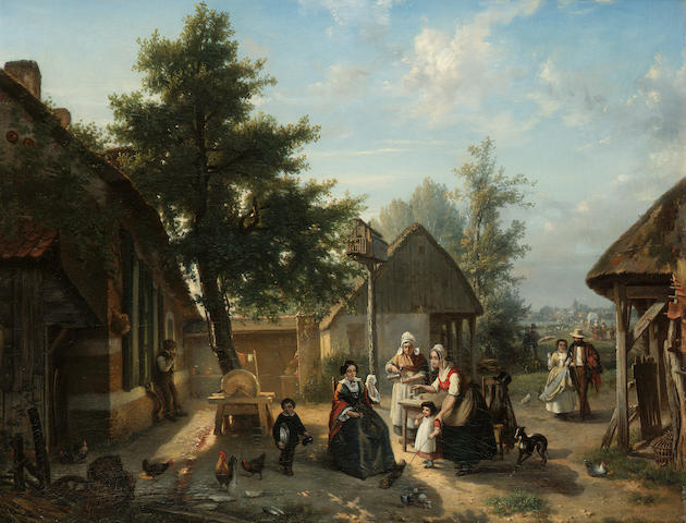 Florent Crabeels (Belgian 1829-1896) A pause for refreshment 61.5 x 78 cm. (24 1/4 x 30 3/4 in.)