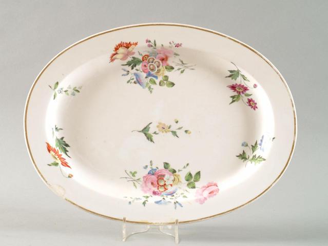 A large Swansea platter, circa 1815-17