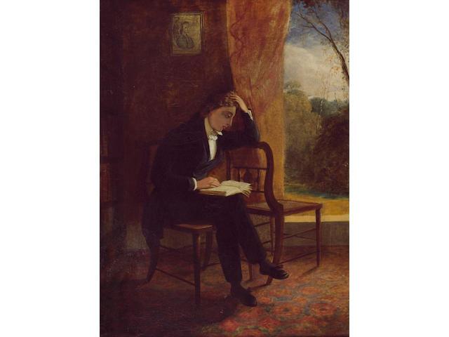 KEATS, JOHN (1795-1821, poet) PORTRAIT BY JOSEPH SEVERN (1793-1879),
