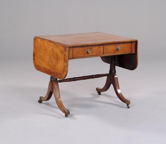 A regency mahogany sofa table.