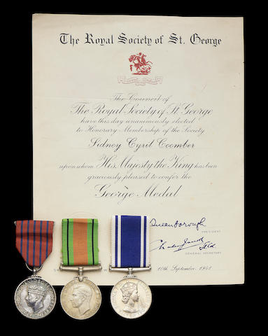 A Second World War Blitz George Medal group of three to Detective Sergeant S.C.Coomber, Metropolitan