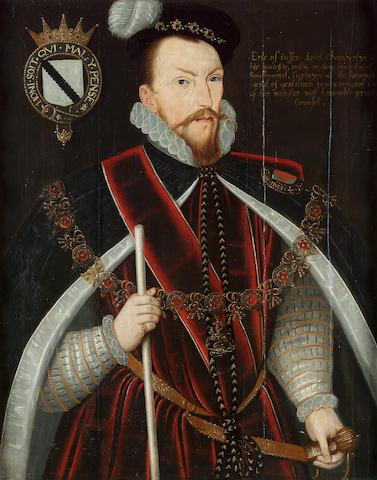 English School, 16th Century Portrait of Sir Thomas Radcliffe, 3rd Earl of Sussex (1526/7-83) 80 x 66 cm. (31 ½ x 26 in.)