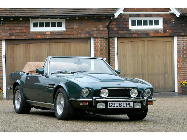 1990 Aston Martin Vantage Volante 'Prince of Wales'  Chassis no. SCFCV81C1KTR15822 Engine no. 580/5822/X