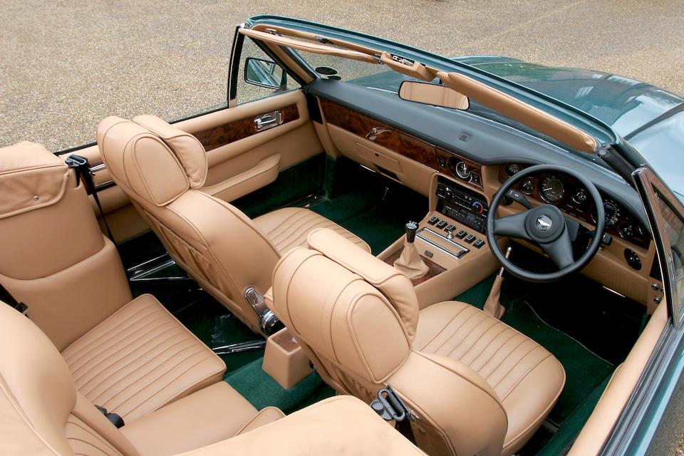 1990 Aston Martin V8 Vantage Volante  Chassis no. SCFCV81V4KTR15833 Engine no. V/580/5833/X