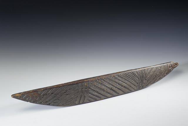 A Maori feather box base