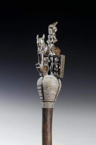 A rare Songo wood sceptre 54cm.