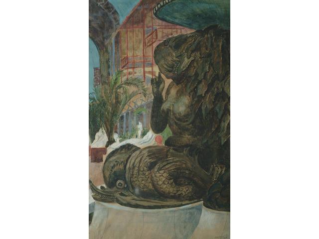 Nina Hamnett (British, 1890-1956) Fountain at Crystal Palace 32 x 19cm (12 1/2 x 7 1/2in)