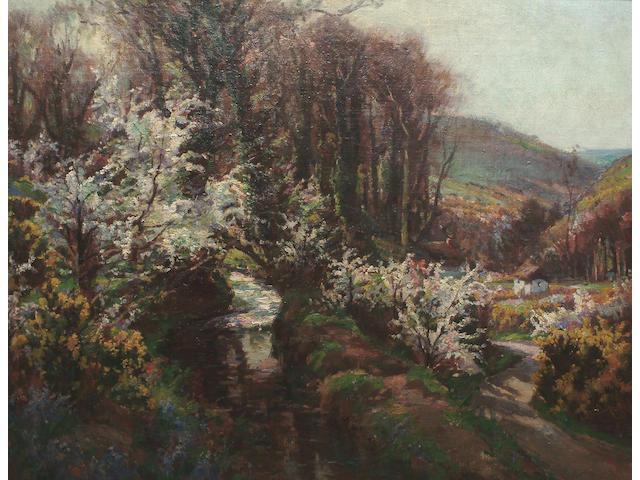 Garstin Cox (British, 1892-1933) A Cornish valley 70 x 92cm (27 1/2 x 36in)