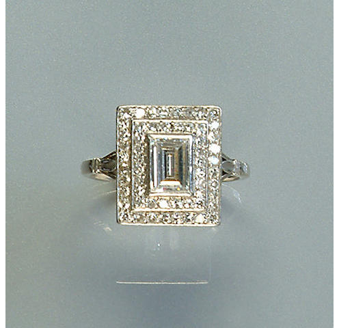 An early 20th century diamond-set cluster ring