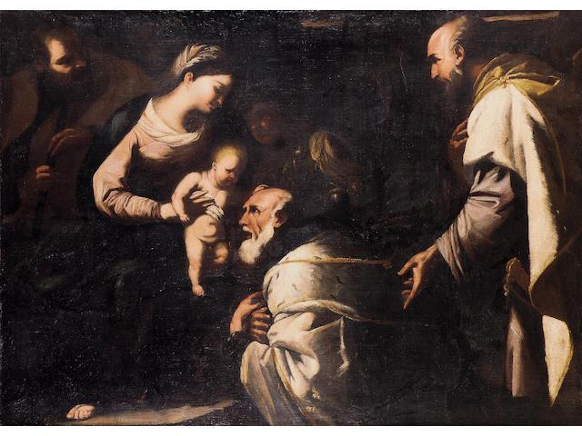 Circle of Luca Giordano, called Fa Presto (Naples 1632-1705) The Adoration of the Magi 141.4 x 192.5 cm. (55 5/8 x 75¾ in.)