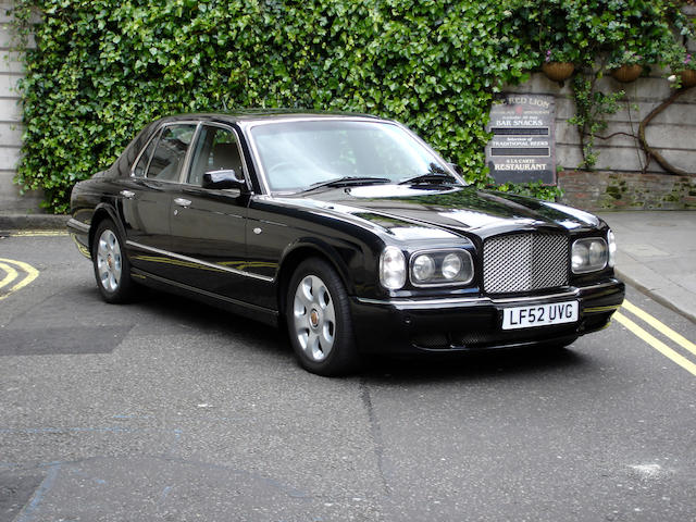 One owner from new,2003 Bentley Arnage R Saloon  Chassis no. SCBLC37F63CH09024 Engine no. L675104115/L410MT22