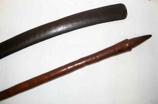 Two New Hebrides wood clubs 101cm. 2