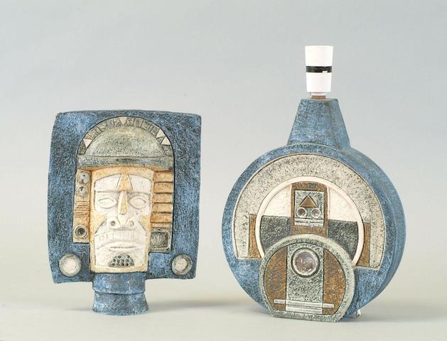 A Troika pottery mask