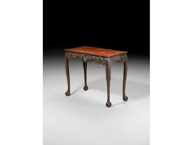 A mid 18th century Irish carved mahogany Side Table,