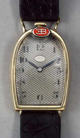A rare Mido gold 'Bugatti' wristwatch presented to Elizabeth Junek, Swiss, 1925,