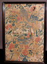 An 18th Century silk embroidered panel,