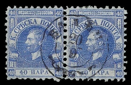 Serbia: 1866-1868 Pelure paper, selection on pages, inc 20p. rose, o.g block of four, used pairs, pieces and four covers or fronts etc, mainly fine (297)