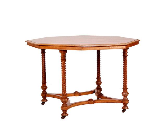 A 19th Century oak Gothic centre table
