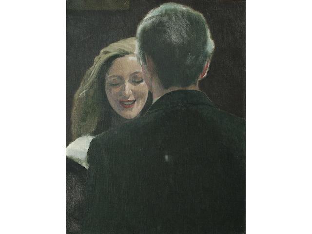 David Inshaw (British, b.1943) The Meeting 35 x 27cm (13 3/4 x 10 3/4in)