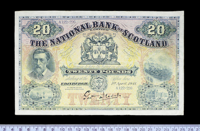 Scotland, National Bank of Scotland Limited, Twenty Pounds 1st April 1941.