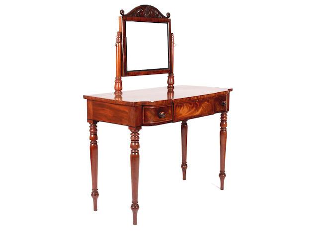 An early Victorian mahogany dressing table