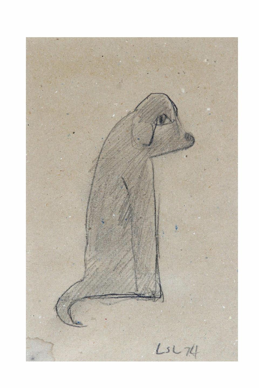 Laurence Stephen Lowry (1887-1976) Dog, 22.5 x 15cm.