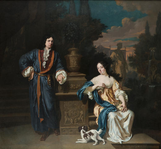 Jan Verkolje (Amsterdam 1650-1693 Delft) A double portrait of a gentleman and a lady, full-lengths,