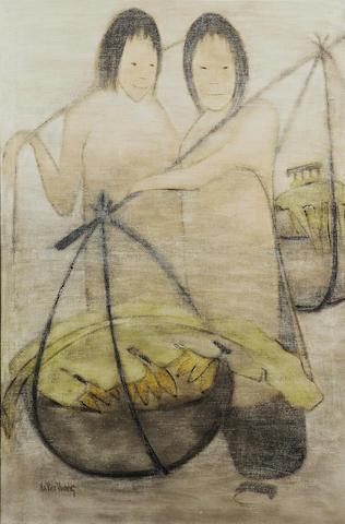Ha Van Vuong (born 1914) Banana Sellers