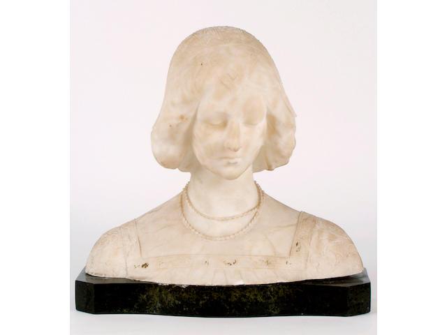 A 19th Century alabaster bust