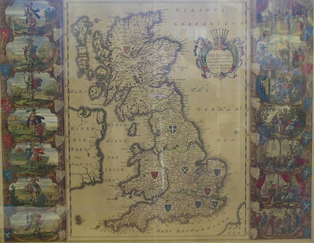 Blaeu (Joan) Britannia prout divisa fuit temporibus Anglo-Saxonum, presertim durante illorum Heptarchia (Britain at the time of the Anglo-Saxon Heptarchy), 42 x 53cm.