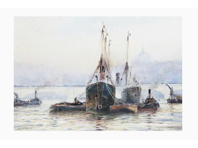 Frank William Scarbrough (fl.1896 - 1939) 'The Tower Bridge, London', and 'London Bridge', 17 x 24.5cm.