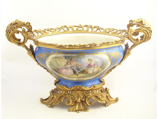 A large and impressive Sèvres-style centrepiece circa 1880-90