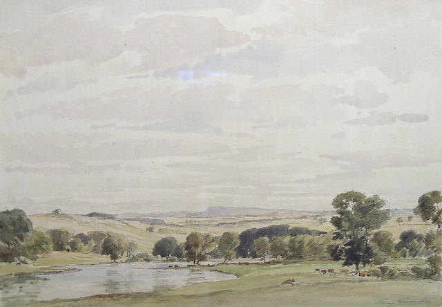 Percy Lancaster (1878 - 1951) In Wharfedale, 24 x 34.5cm.