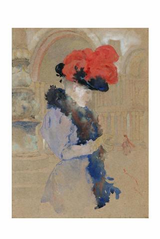 David Woodlock (1842 - 1929) 'Venice', 22 x 16cm.