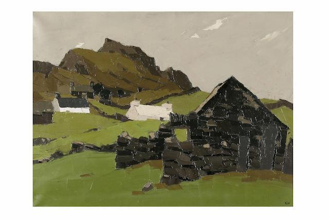 Sir Kyffin Williams (born 1908) Deiniolen, 50.5 x 67.5cm.