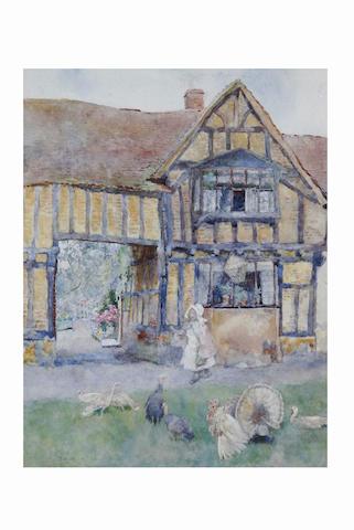 David Woodlock (1842 - 1929) Running the gauntlet, 24.5 x 19cm.